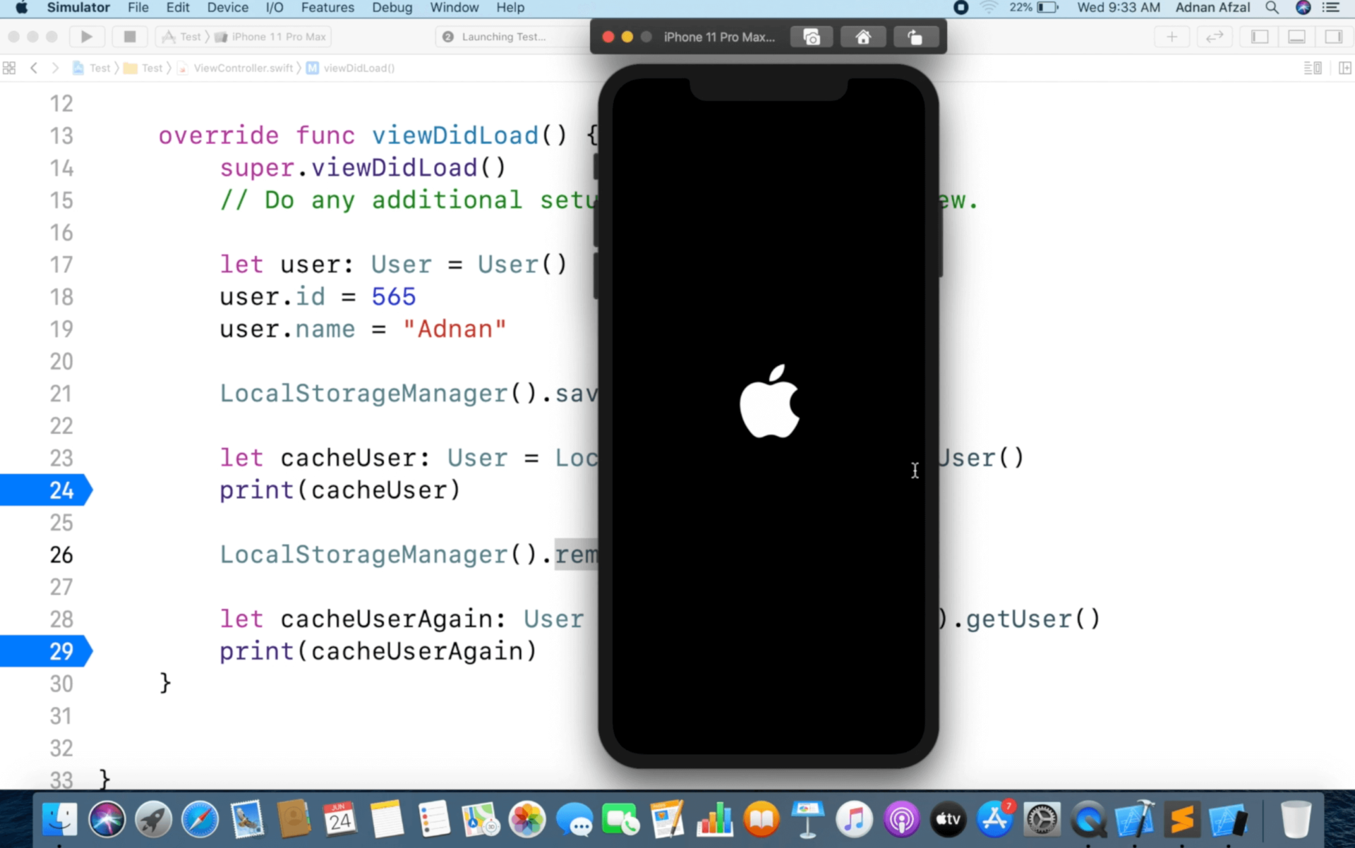 Easy way to save the class object in local storage, user defaults - Swift
