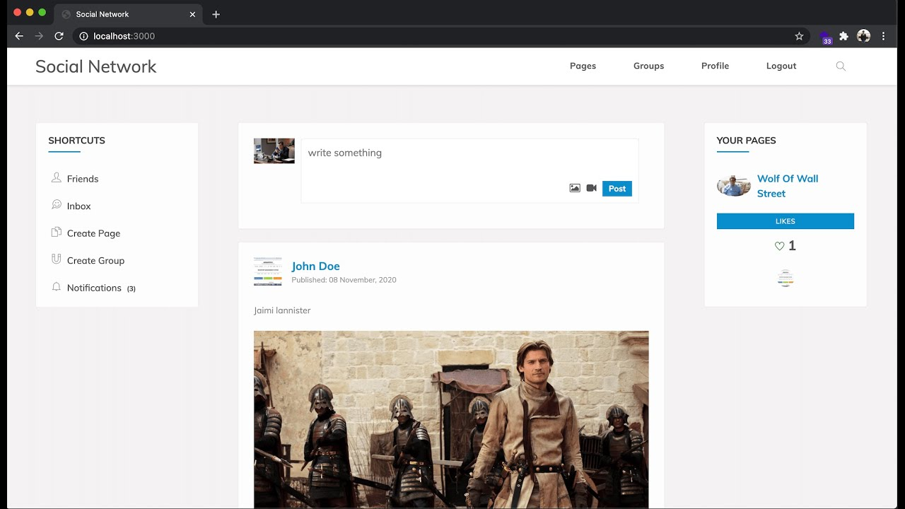 How to create a social networking site in Node JS and Mongo DB