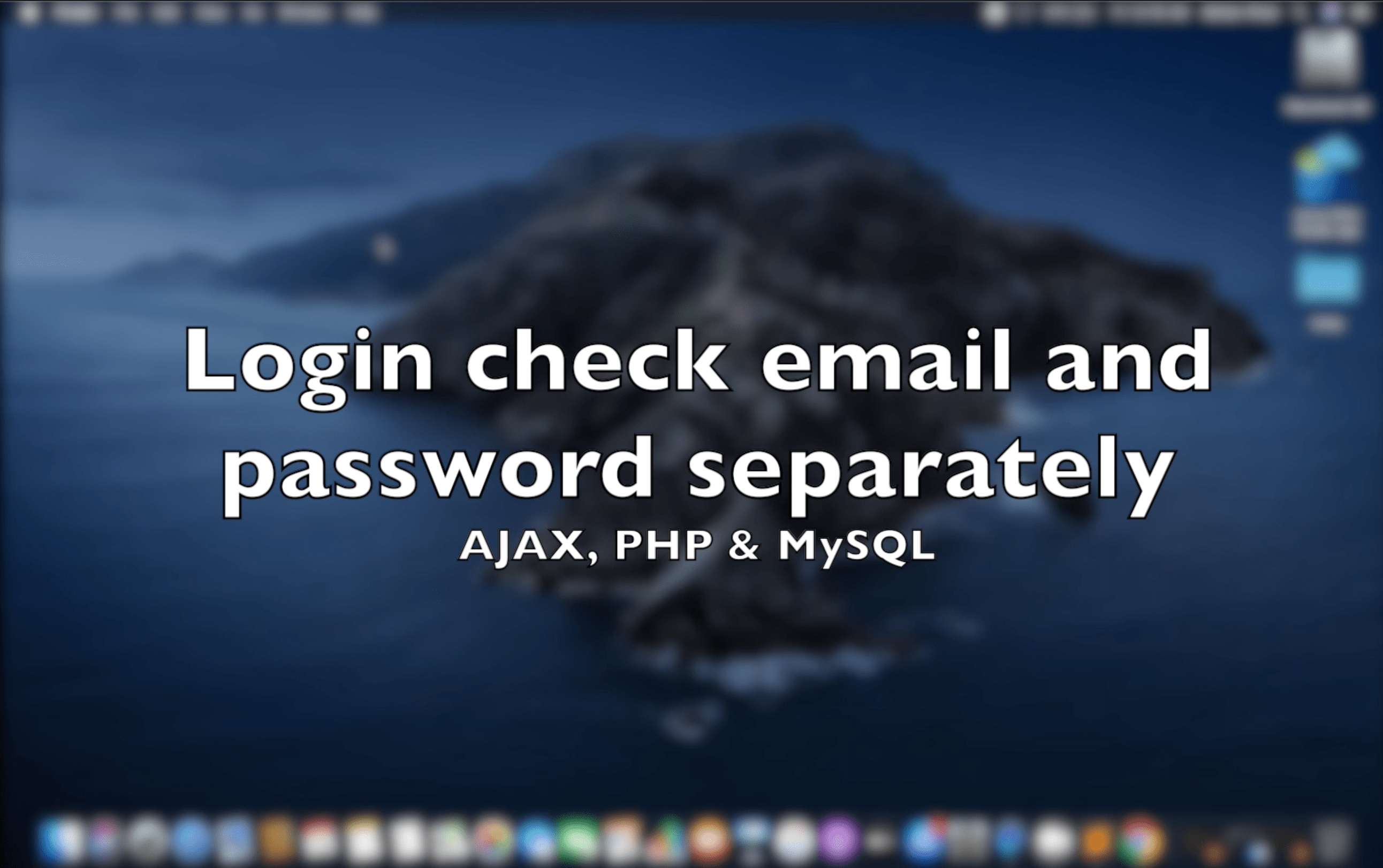 Login check email and password separately