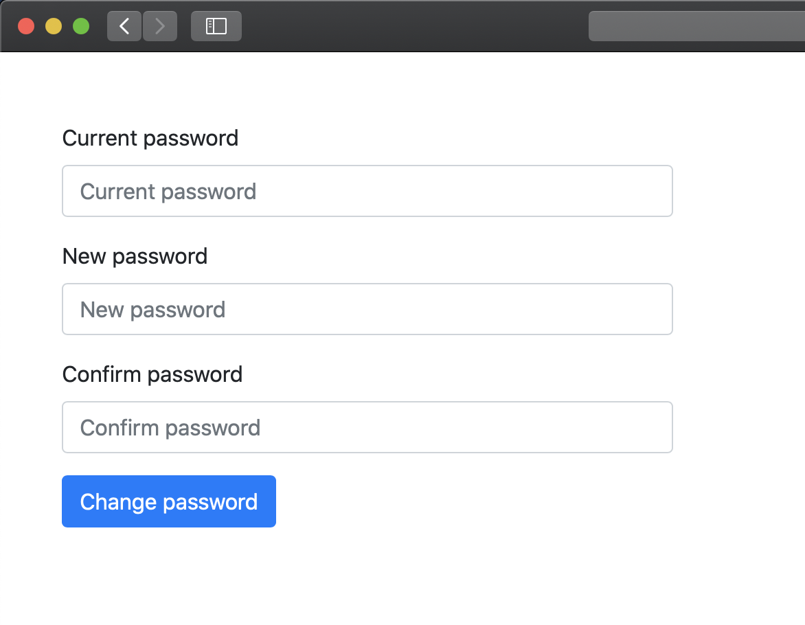 Hashed password change feature - Core PHP