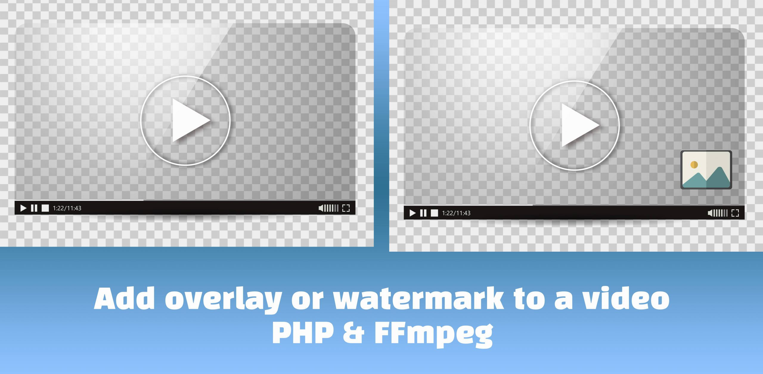 Add overlay or watermark to video - PHP & FFmpeg