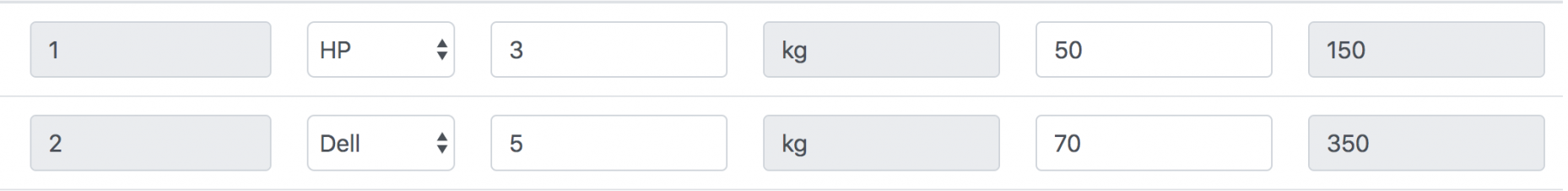 PHP - Add Dynamic Rows in Table Tag