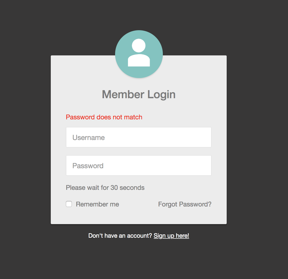 Prevent user from login for 30 seconds after 3 failed login attempts - PHP