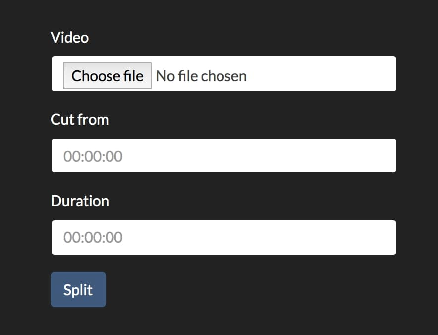 Split video in multiple parts - PHP & FFmpeg