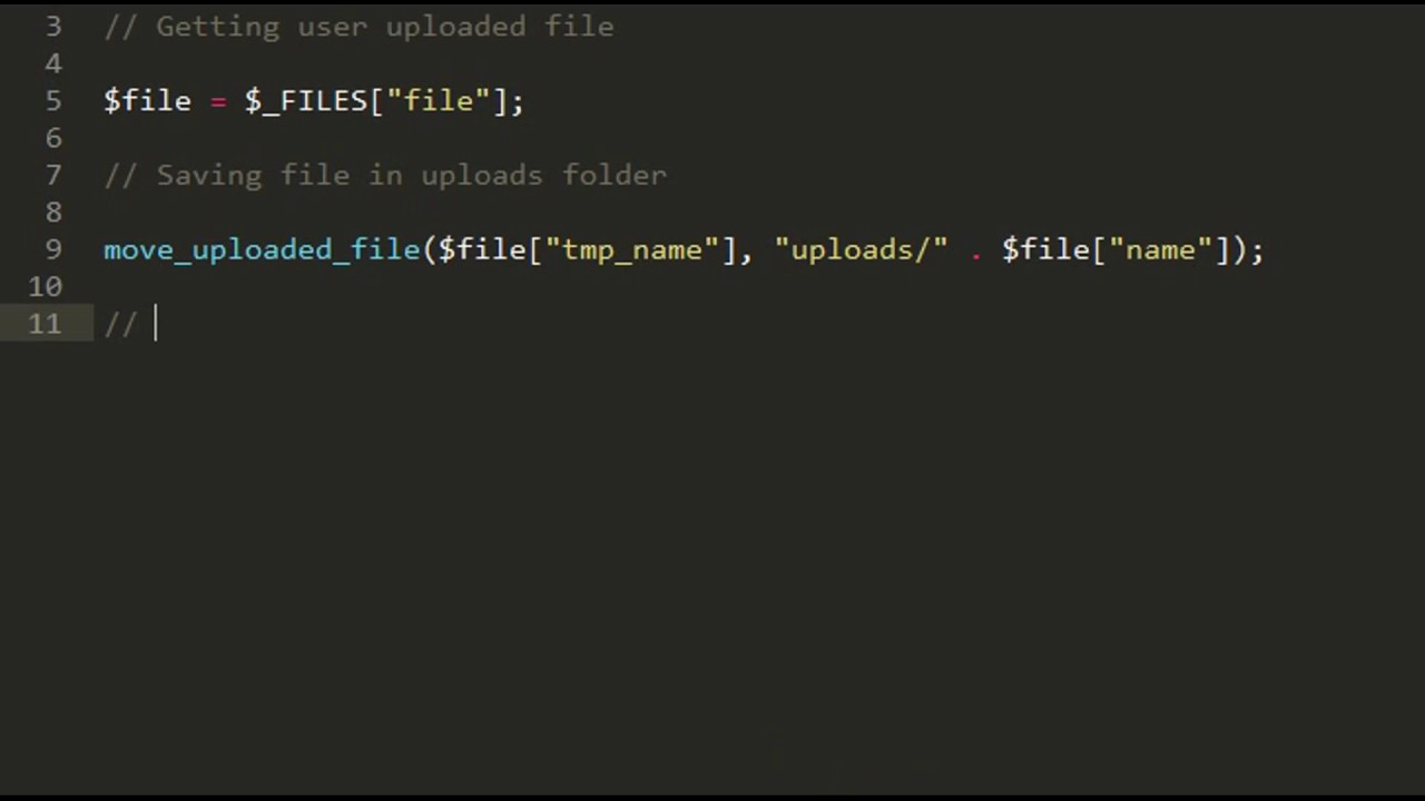 Upload, Download and Delete files - PHP