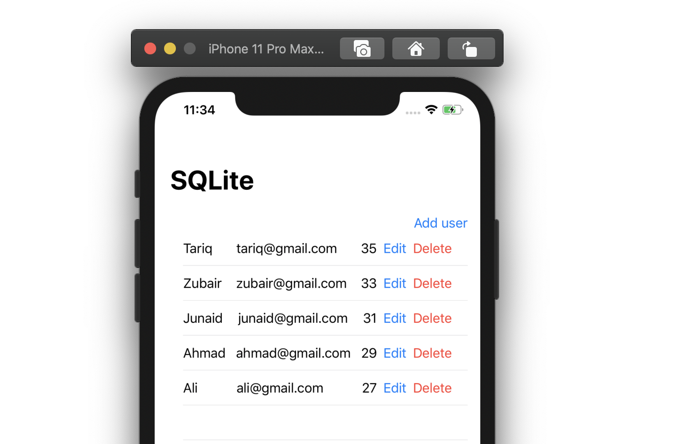 Create, Read, Update and Delete from SQLite - Swift & Swift UI