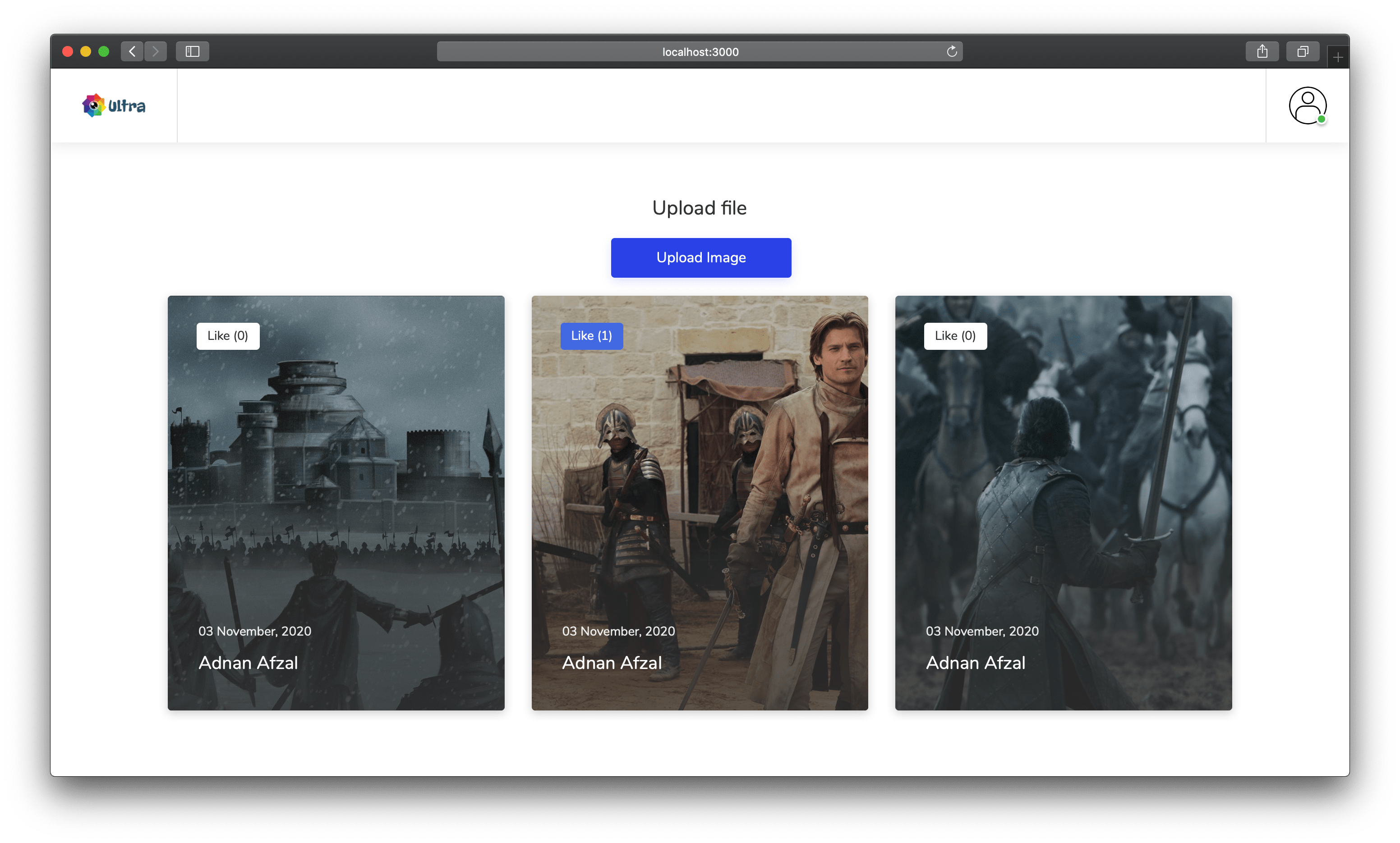 Image Sharing Web App in Node JS and Mongo DB