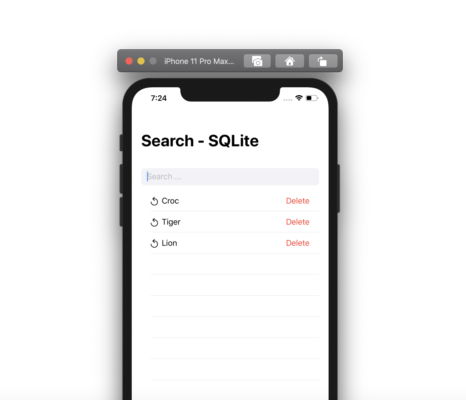 Search bar with history - Swift UI, SQLite