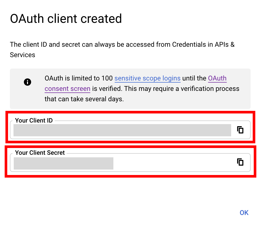 OAuth Client Created - Google one-tap sign in