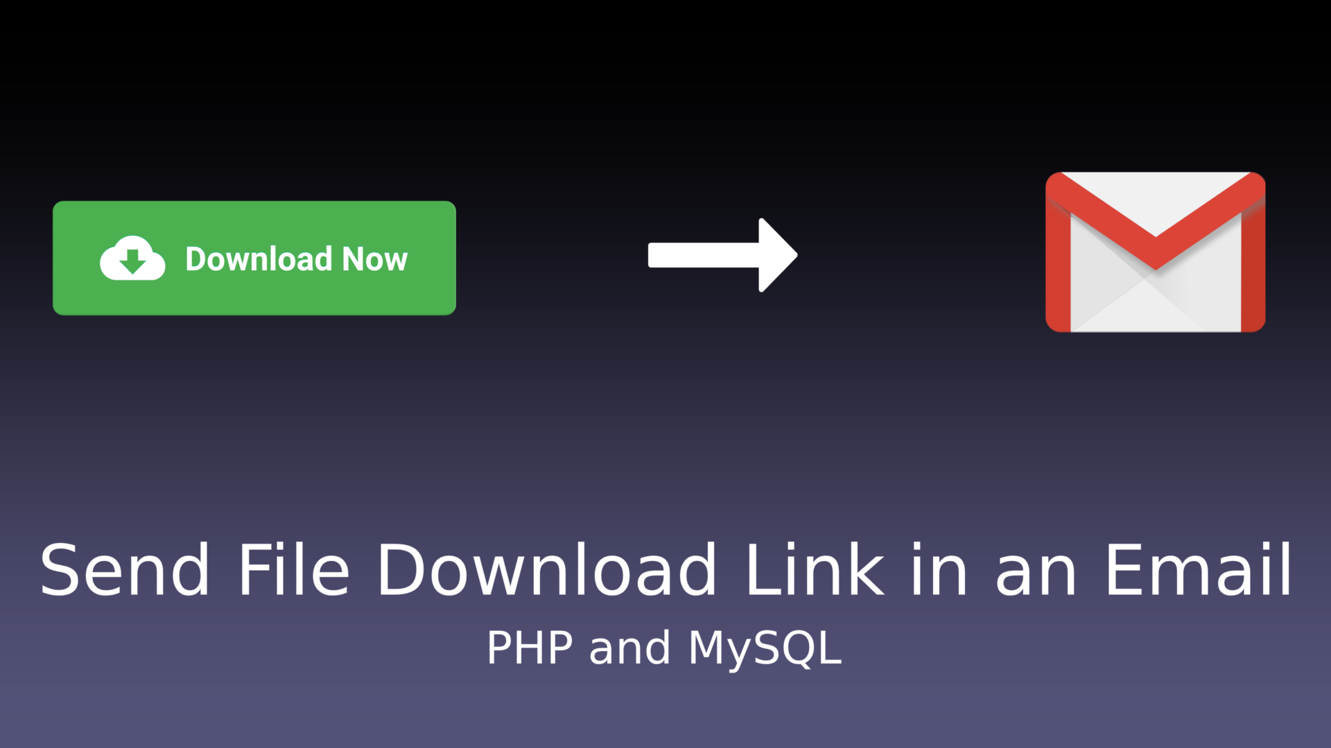 Send File Download Link in an Email - PHP and MySQL